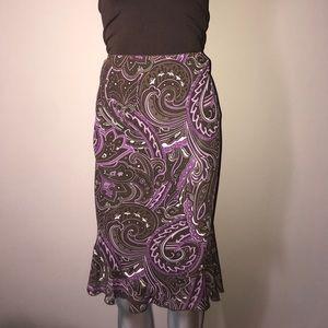 Paisley winter skirt
